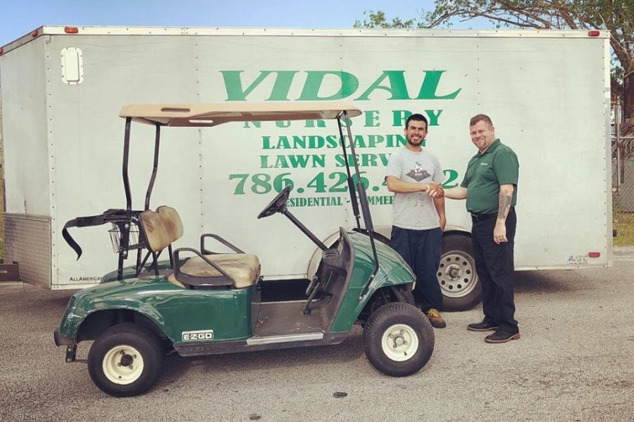 Used E-Z-GO TXT Delivered to Vidal Nursery